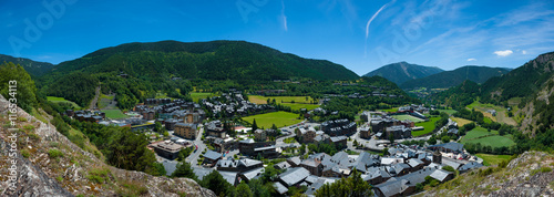 Andorra, view from the mountain on Ordino Wallpaper Mural