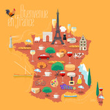 Map of France vector isolated illustration - 116541763