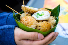 Coconut Rice Cake, A Kind Of Thai Dessert