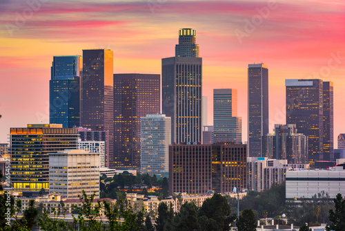 Poster Los Angeles Los Angeles, California Skyline