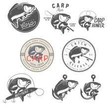 Set Of Vintage Carp Fishing Em...