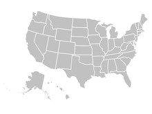 Blank Similar USA Map Isolated...