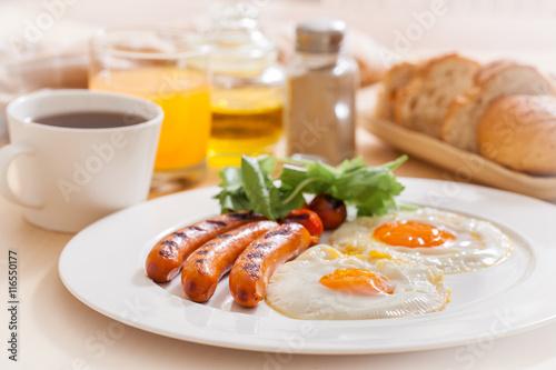 Deurstickers Gebakken Eieren Breakfast