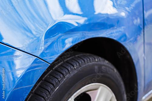 Fotografie, Obraz  Damaged Car, Dent Scuff