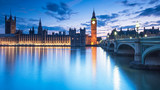 Fototapeta Londyn - Big Ben and the Houses of Parliament at night in London, UK
