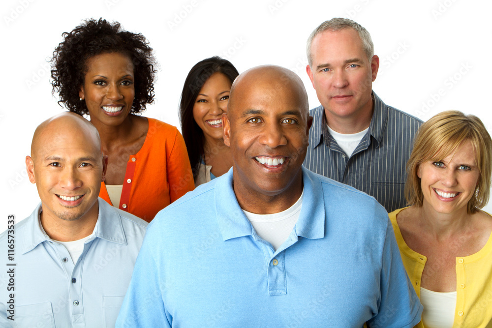 Fototapety, obrazy: Diverse group of people. Multicultural group of people.