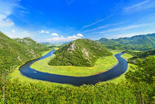 Photo Canyon of Rijeka Crnojevica river near the Skadar lake coast