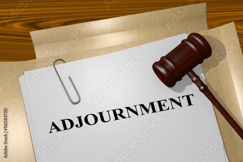 Платно Adjournment - legal concept