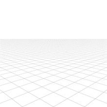 Perspective Grid Over White Ba...