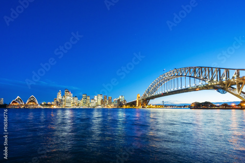 plakat Sydney CBD and Harbour Bridge