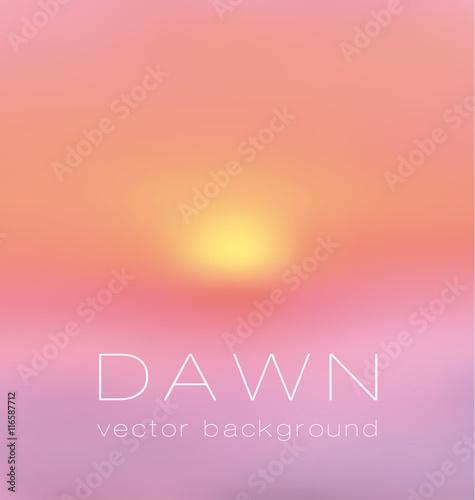 фотография  sunrise pastel pink concept background. dawn vector illustration