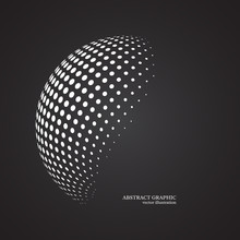 Abstract Globe Dotted Sphere, ...