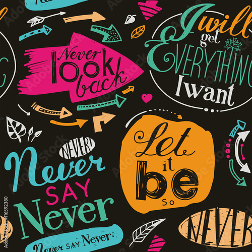 Photo  Seamless pattern of the letterings