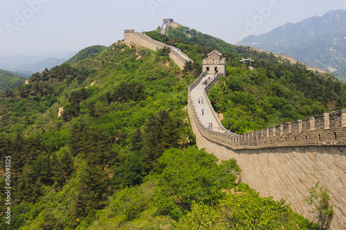 Photo Stands Beijing The great wall of China