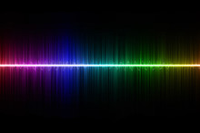 Rainbow Sound Wave On Black Ba...