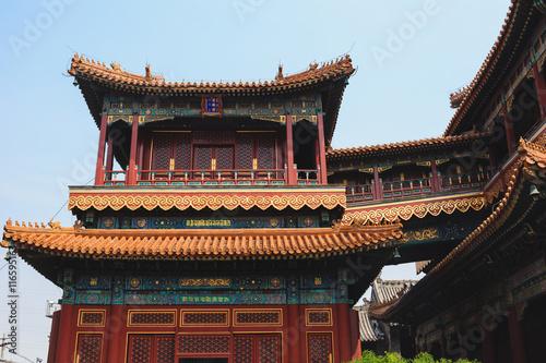 In de dag Beijing Lama temple, Beijing, China