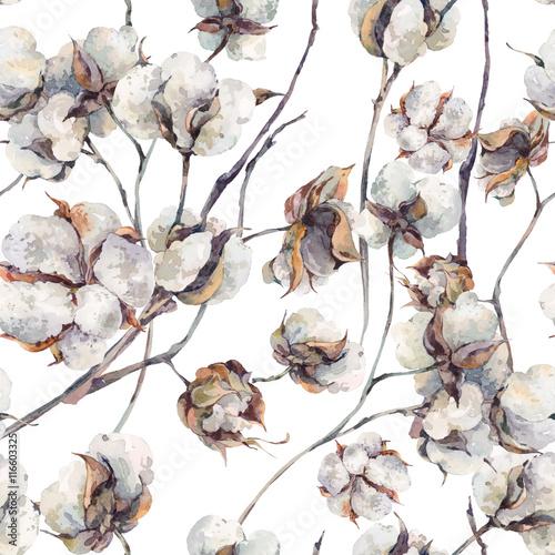 akwarela-bezszwowe-wzor-z-galazek-i-bawelny-kwiaty