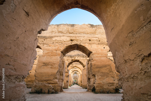 Poster Maroc The old Meknes entrance to the granary, Morocco