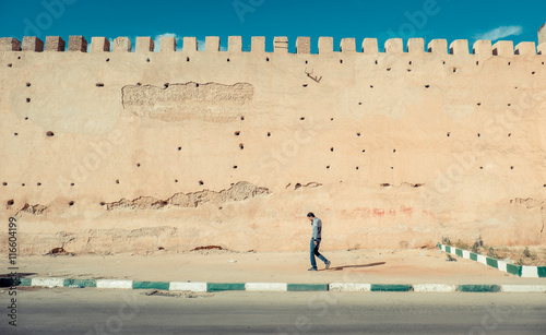 Poster Maroc The old city walls of the city of Meknes, Morocco