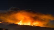 Smoke Plume Of Sand Fire