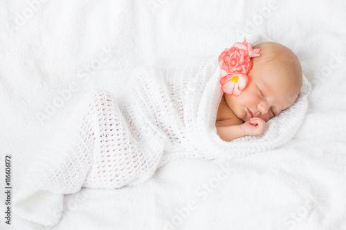 Infant sleeping Canvas Print