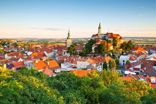 Town Of Mikulov In Moravia, Cz...
