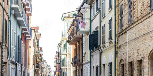 In de dag Havana Porto Recanati typical town
