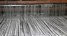 Ancient Textile Loom Of Wood W...