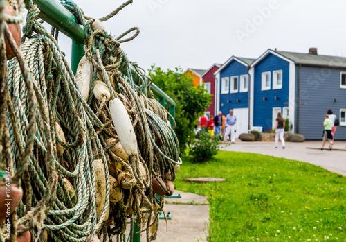 Photo  Krabbenbuden auf Helgoland