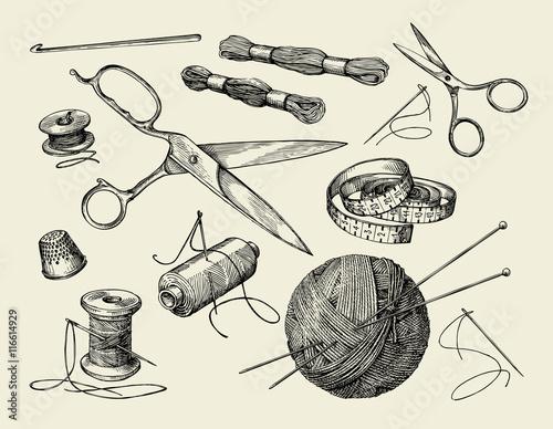 Slika na platnu Sewing notions
