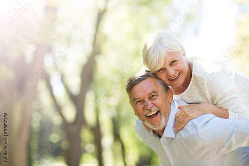 Fotografie, Obraz  Senior couple standing outdoors