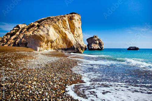 Spoed Foto op Canvas Cyprus Aphrodite's birthplace beach in Paphos, Cyprus
