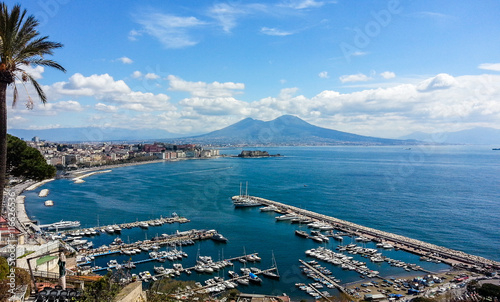 Foto auf AluDibond Neapel Naples landscape from Posillipo hill. Italy