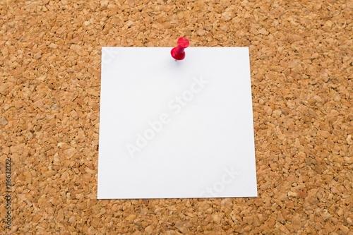 Fotografie, Obraz  Note on Pinboard (blank)