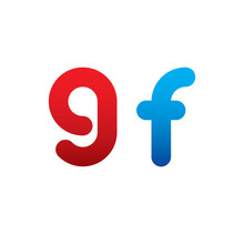 9f Logo Initial Blue And Red