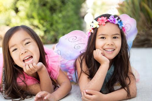 Fotografie, Obraz  Little Girl Dressed as Fairy Princess