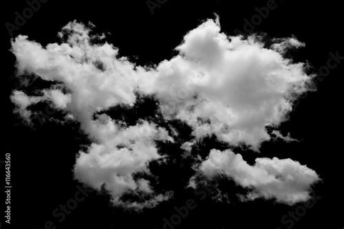 Canvas Prints Heaven White cloud on black background