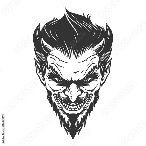 Vászonkép Devil head illustration