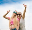 Woman, girl, sunglasses, half height, fun