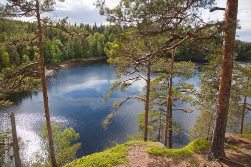 Fotografie, Obraz  Valaam. View from the mountain Eleon