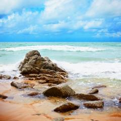 Obraz na Plexi Do łazienki Tropical ocean coast - Landscape