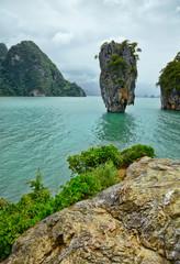 Fototapeta Morze Exotic James Bond island near Phuket. Thailand.