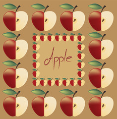 Plakat pattern of apples