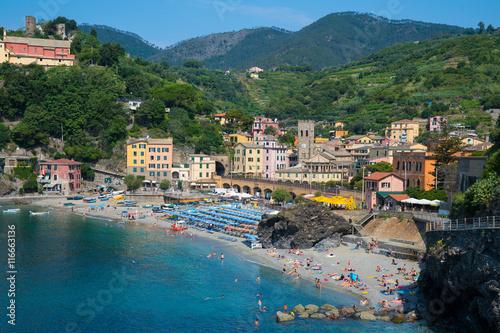 Fotobehang Liguria Monterosso, Italy along the Cinque Terre