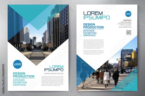 Fototapeta Business brochure flyer design a4 template. obraz