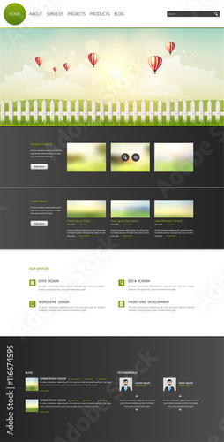 Eco Modern One Page Website Template Vector Eps10 Modern Web