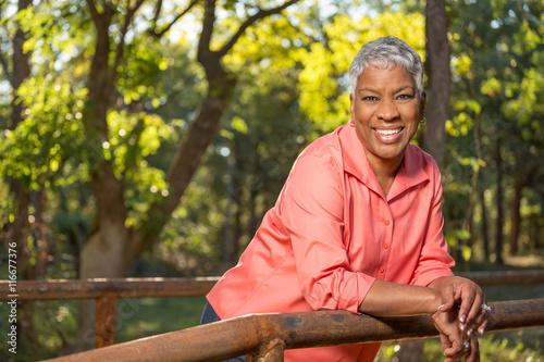 Fotografie, Obraz  African American Senior Woman