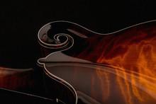 Mandolin On Black Background