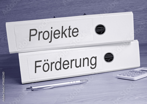 Projekte Und Forderung Ordner Im Buro Buy This Stock Photo And