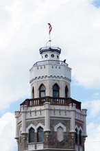 New Sigulda Palace Tower (was Built In The Second Half Of The XIX Century As The Residence Of The Princes Of Kropotkin)